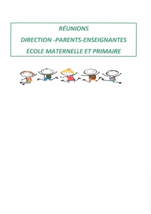LES DATES DE REUNIONS DE PARENTS DE L'ECOLE